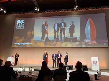 EIC2019 award - on stage